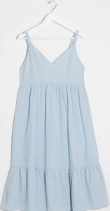 Mama Licious Mamalicious Maternity – Niebieska denimowa sukienka midi-Niebieski