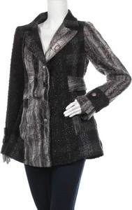 Czarny płaszcz Marc Lauge