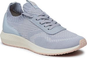 Niebieskie buty sportowe Tamaris z płaską podeszwą