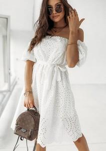 Sukienka Latika z krótkim rękawem z bawełny midi