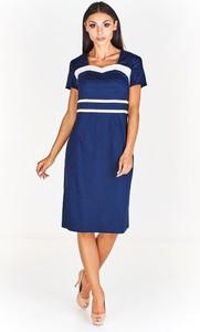 Niebieska sukienka Fokus z bawełny