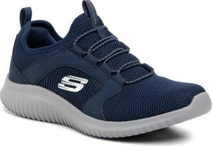 Niebieskie buty sportowe Skechers sznurowane