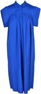 Niebieska sukienka MaxMara Studio w stylu casual z bawełny z krótkim rękawem