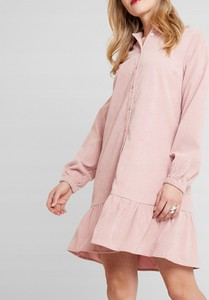 Różowa sukienka Inna mini koszulowa