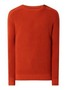 Czerwony sweter Tom Tailor z bawełny w stylu casual