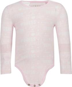 Różowe body niemowlęce Guess