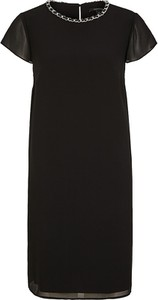 Czarna sukienka comma, w stylu casual z okrągłym dekoltem mini