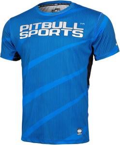 T-shirt Pit Bull w sportowym stylu z tkaniny