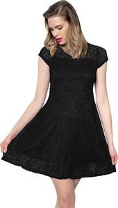 Czarna sukienka Snm w stylu casual z dekoltem w kształcie litery v