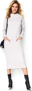 Sukienka Makadamia z długim rękawem midi w stylu casual