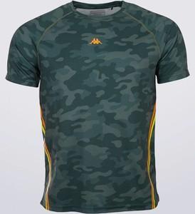 Zielony t-shirt Kappa z krótkim rękawem
