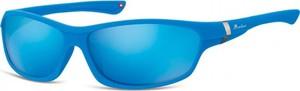 Stylion Okulary dziecięce sportowe Unisex niebieskie matowe lustrzane CS90C