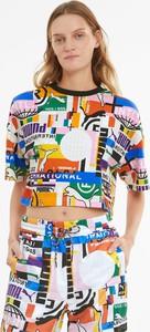 T-shirt Puma z dresówki w sportowym stylu