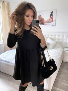 Czarna sukienka magmac.pl z długim rękawem mini