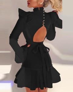 Sukienka Kendallme mini z okrągłym dekoltem z odkrytymi ramionami