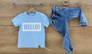 Granatowe spodnie dziecięce MIMI