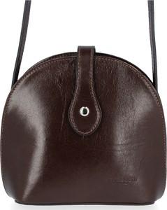 Brązowa torebka VITTORIA GOTTI lakierowana na ramię ze skóry
