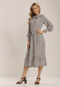 Sukienka Renee midi z długim rękawem w stylu casual