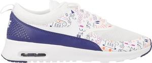 Buty sportowe Nike sznurowane air max thea z płaską podeszwą