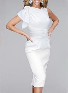 Sukienka Cikelly midi z okrągłym dekoltem z krótkim rękawem