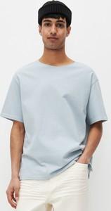 Niebieski t-shirt Reserved z bawełny z krótkim rękawem