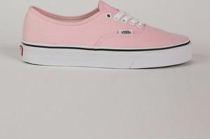 Różowe buty Vans w street stylu z płaską podeszwą