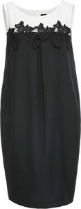 Czarna sukienka bonprix bodyflirt w elegenckim stylu w koronkowe wzory tulipan