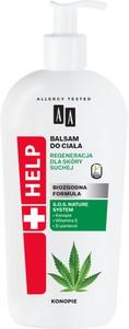 Oceanic AA HELP NATURAL balsam do ciała regeneracja dla skóry suchej cannabis 400 ml