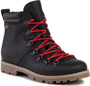 Czarne buty dziecięce zimowe Froddo sznurowane
