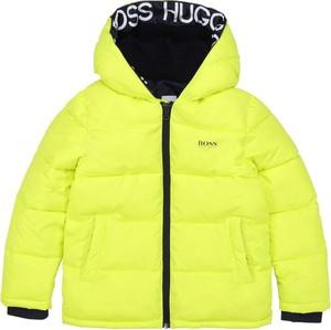 Żółta kurtka dziecięca Hugo Boss dla chłopców