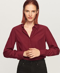 Czerwona koszula Reserved z długim rękawem