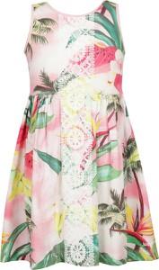 Sukienka Desigual mini bez rękawów z okrągłym dekoltem