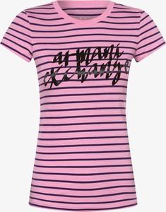 Różowy t-shirt Armani Exchange z bawełny
