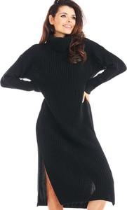 Sukienka Awama z długim rękawem z golfem