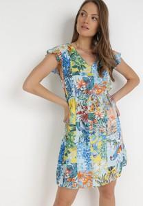 Sukienka born2be z krótkim rękawem mini trapezowa
