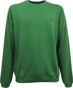 Zielony sweter Sun 68 z bawełny w stylu casual