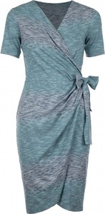 Niebieska sukienka VISSAVI mini z dekoltem w kształcie litery v kopertowa