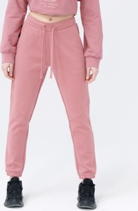 Różowe spodnie sportowe Outhorn z dresówki w sportowym stylu
