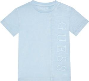 Koszulka dziecięca Guess z krótkim rękawem z jeansu dla chłopców