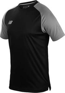 Czarna koszulka dziecięca New Balance dla chłopców z krótkim rękawem