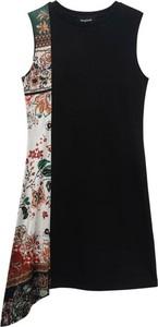 Sukienka Desigual bez rękawów z okrągłym dekoltem mini