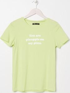 T-shirt Sinsay z krótkim rękawem z okrągłym dekoltem w młodzieżowym stylu