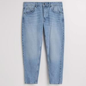 Niebieskie jeansy Reserved w młodzieżowym stylu z jeansu