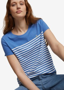 T-shirt Tom Tailor Denim z okrągłym dekoltem z krótkim rękawem