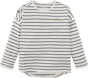 Bluzka dziecięca Cool Club z bawełny w paseczki z długim rękawem
