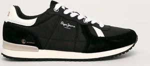 Buty sportowe Pepe Jeans z zamszu sznurowane