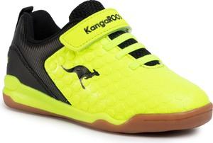 Zielone buty sportowe dziecięce Kangaroos sznurowane