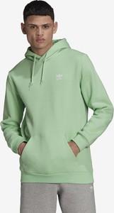 Zielona bluza Adidas Originals z bawełny w sportowym stylu