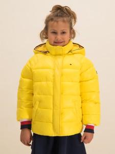 Żółta kurtka dziecięca Tommy Hilfiger w paseczki
