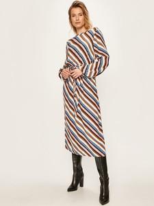 Sukienka Vila prosta z długim rękawem w stylu casual